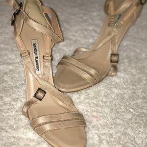 Manolo Blahnik nude heels